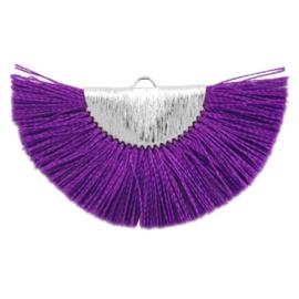 Kwastjes hanger Silver-purple