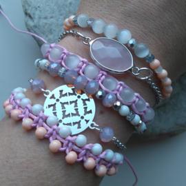 Armbandenset in lente roze ♥