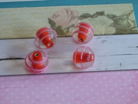 5 x High Quality Glass Hand Made Bead 162 diam. ca. 14mm.