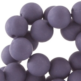 15 x Acryl kralen mat rond 10mm Purple haze blue gat: 1,8mm