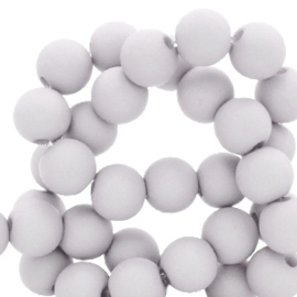 30 x 8 mm acryl kralen Dove grey