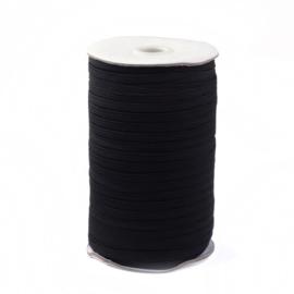 1 meter plat elastiek 12mm x 1mm zwart