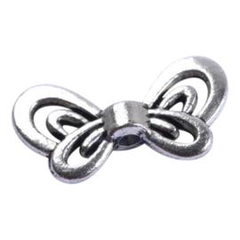 10 stuks tibetaans zilveren vlinder vleugel 17 x 9mm Gat: 1,5mm