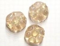 5x Glaskraal bloem 15 mm