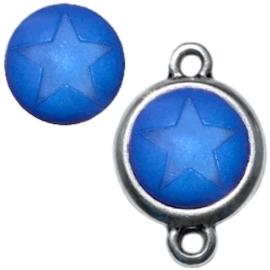 3 x  Polaris cabochon ster matt 15 mm Deep ultramarine blauw zonder houder