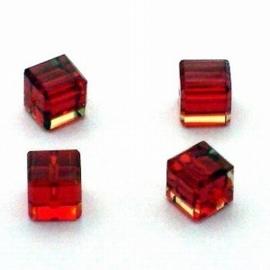3x Preciosa Handgeslepen kristal kraal 8mm rood