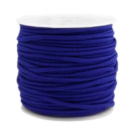 1 meter Gekleurd elastisch draad 2.5mm Cobalt blue