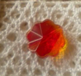 5x Prachtige facetkraal bloem 12 x 6,5 cm rood