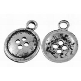 4 x Tibetaans zilveren bedeltjes van knoop 18x13 mm