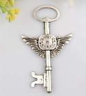 Prachtige grote tibetaans zilveren hanger van een sleutel 75 x 44 x 2mm Gat: 10mm