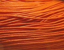 10 meter waxkoord 1,5mm dik kleur: Donker oranje