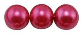 40 x prachtige glasparel kleur: Deep Pink 6mm