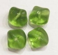 10 Stuks Glaskraal grillig olijf-groen 13 mm