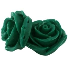 2 x Roos twee rijggaten 23 mm Donker warm groen verdeler