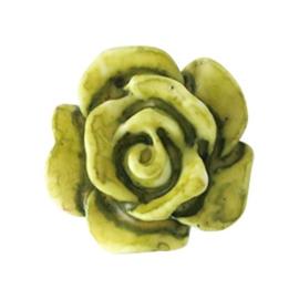 5 x Roosjes kralen 10mm Olive green (Ø0.8mm)