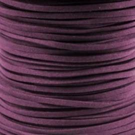 2 meter Imitatie Suède Juicy Purple