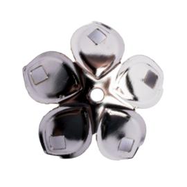 10 x metalen aluminium kralenkapje zilver kleur 19 x 10mm gat: 1,5mm