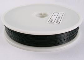 1 rol van 100 meter gecoat staaldraad 0,38mm zwart