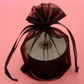 1 x luxe organza zakje, kies uit 6 verschillende maten - Black
