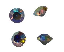 5x Precosia punt kristal Rond AB 4 mm