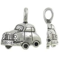 10x Tibetaans zilveren bedeltje van een auto 20 x 21 x 6 oogje: 3 x 5mm