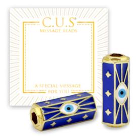 1 x C.U.S® sieraden message beads evil eye & stars Goud