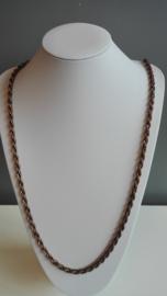 Per stuk metalen ketting roodkoper Ca. 1meter lang zonder sluiting