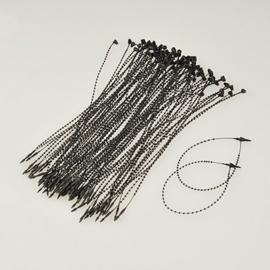 100 stuks  Tie wraps voor kaartjes, sieraden etc. 19cm