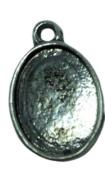 2x Tibetaans Zilveren Cabochon Houder binnenzijde: 13,6 mm x 10,2 mm