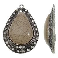 Prachtige Tibetaans zilveren hanger voor bijvoorbeeld een sjaal of ketting 47 x 72 x 12mm, Gat: c.a. 4mm