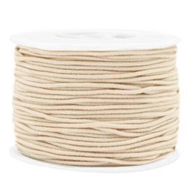 1 meter Gekleurd elastisch draad 1.5mm Beige