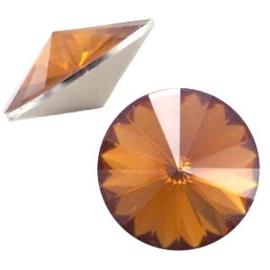 1x BQ quality 1122- Rivoli puntsteen12 mm Dark topaz opal ca. 12 mm (1122)