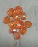 20 Stuks oranje glinsterende glasvbicone 4mm gat 1mm