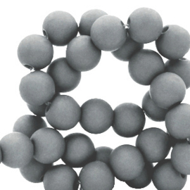 30 x 8 mm acryl kralen Mouse grey