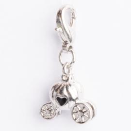 Be Charmed bedel met karabijnsluiting zilver met een rhodium laag (nikkelvrij)