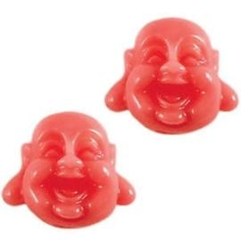 2 x Buddha Kraal Resin 12 mm Coral