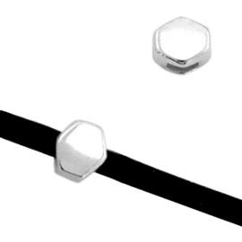 2 x Schuivers DQ metaal prisma Ø3mm Antiek zilver