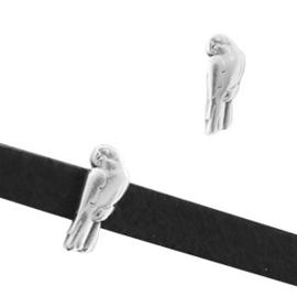 1 x Schuivers DQ metaal papegaai 5x11mm Antiek zilver