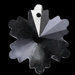 Prachtige kristal facet Hanger sneeuwvlok 16 x 18 x 8mm gat 1mm