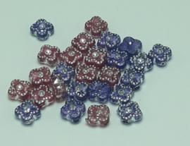 10 Stuks prachtige acrylkralen met bling 7mm gat 1mm