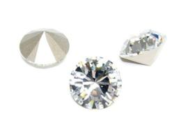 5 x Puntsteen Rivoli Preciosa voor Puntsteen SS50 Setting c.a. 12mm crystal