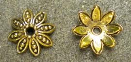 10 stuks metalen kralenkapjes 14mm Goudkleur