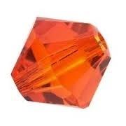 10 x Preciosa Kristal Bicone kraal Oranje 8mm