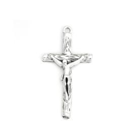 1 x DQ hanger kruis met Jezus 44 x 23mm 3D oogje 2mm