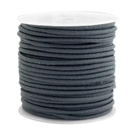1 meter Gekleurd elastisch draad 2.5mm Dark grey