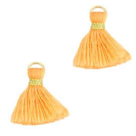 2 x Kwastjes 1.5cm Gold-paradise orange