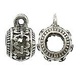 Prachtige Tibetaans zilveren bails hanger bali style 7 x 11 x 9mm Ø 3,5mm, het oogje is 1mm