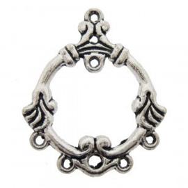 2 stuks Tibetaans zilveren hang ornamenten 24 x 28 x 1mm