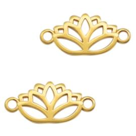 1 x Bedel DQ metaal tussenstuk lotus goud (nikkelvrij)