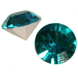 2 x Preciosa Maxima SS 29 puntsteen (6.2mm) Blue zircon